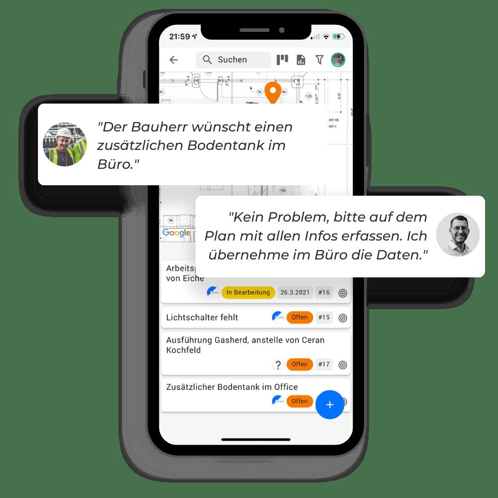 Communicate addendum in chat