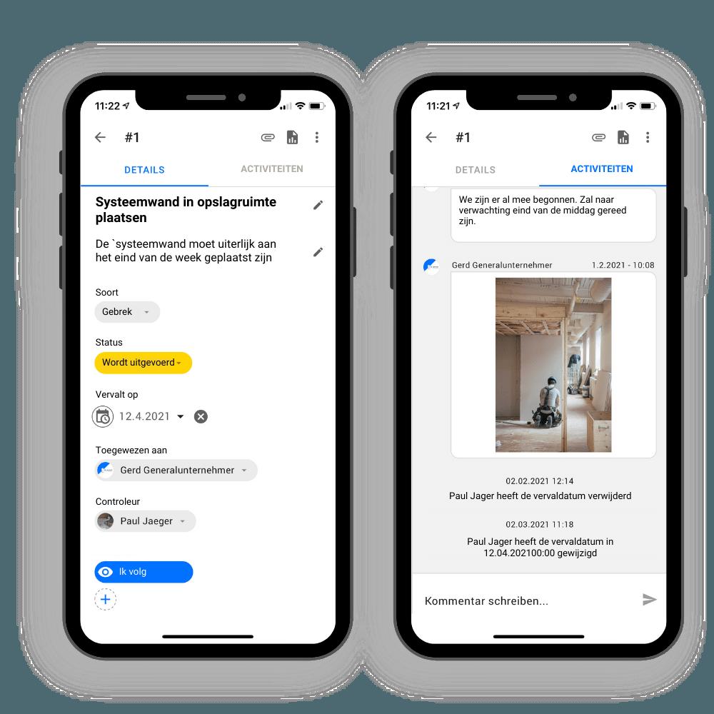 Communicatie in het project met upmesh
